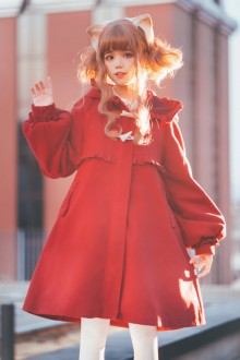 Original dDsign <Be My Cat> Plush Thick Sweet Lolita Coat 3 Colors