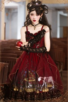 Original Design <Rotten Forest> Burgundy Gothic Lolita JSK Dress