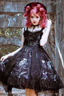 Original Design <The Vampire Diaries> Dark Gothic Lolita JSK Dress