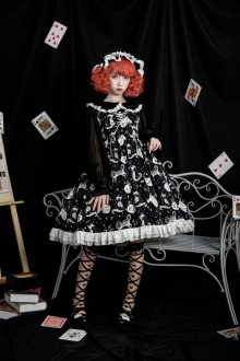 Original Design <Diamond Star Meow> Gothic Lolita JSK Dress 2 Colors