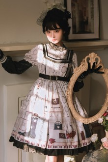 Original Design <Little Paris> Elegant and Sweet Lolita OP Dress