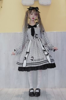 Original Design <Leaking Ink Pen> College Style Sweet Lolita Dress