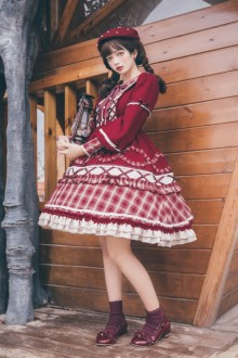 Original Design 2021 New <Little Red Riding Hood> Red Sweet Lolita OP Dress