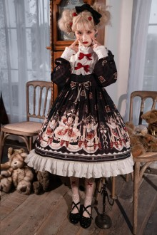 New Original <New Year> Print Sweet Lolita OP Dress 2 Colors