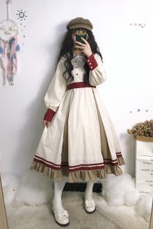 Original Design <Letter From Afar> Long Sleeve Classic Lolita OP Dress
