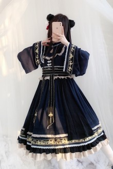 Original Chinese Style Embroidery <New Year> Classic Lolita Op Dress 2 Colors