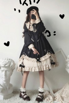 Original <Star Story> Black Sweet Lolita Op Dress