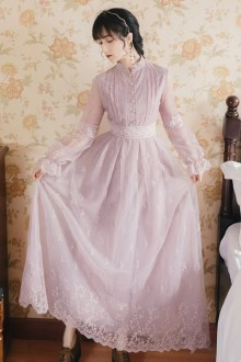 Original 2021 New Embroidery Purple <First Love> French Sweet Lolita Dress