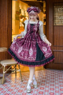 New Original <Gate Of Dark Night> Gothic Lolita Jsk Dress 3 Colors