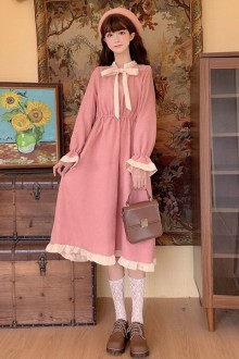 Original Solid Color Sweet Lolita Op Dress