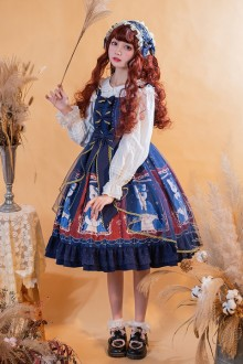2021 Original New <Mrs. Cat> Sweet Lolita Jsk Dress 2 Colors