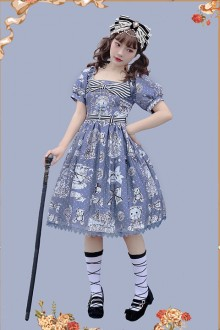 Infanta Original Print <Gift Bear> Classic Lolita Op Dress