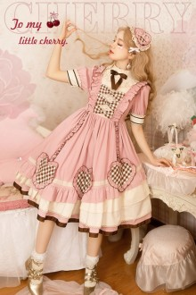 Original New <Cherry> Pink Sweet Lolita Dress