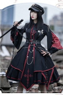Original Design New <Sanctioner> Retro Gothic Lolita OP Dress