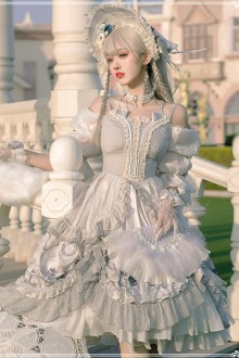 Original Design New <Rose> Retro Palace Style Classic Lolita OP Dress