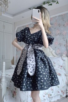 Original French Floral Short Sleeve Sweet Lolita Dress