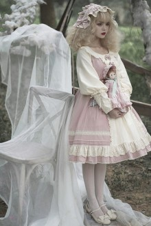 Original Design Cotton Long-Sleeved Sweet Lolita OP Dress 2 Colors