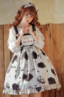 Original Design <Sweet Milk Candy> Sweet Lolita JSK Dress