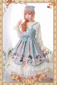 Infanta Original Print <Portrait Of A Little Lady> Classic Lolita JSK Dress 3 Colors