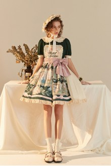 Original Design <Easter> Short Sleeve Embroidered Lace Classic Lolita Dress