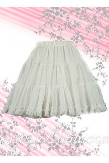 Pure White Pleated Hotsale Lolita Skirt