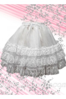 White Lace Multi-layer Sweet Lolita Skirt