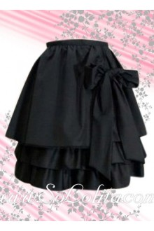 Black Bow Multi-layer Inexpensive Lolita Skirt