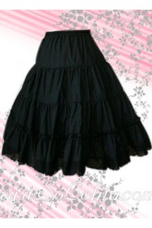 Black Long Elegance Lolita Skirt