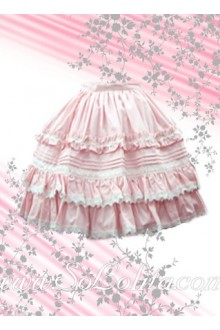Sweet Pink Multi-layer Pleated Lolita Skirt