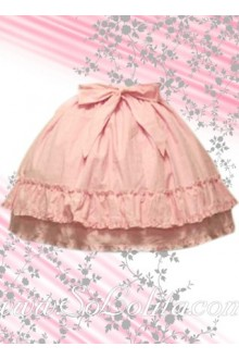 Kawaii Pink Bow Multi-layer Pleated Lolita Skirt
