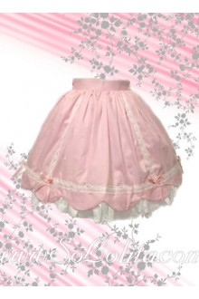 Sweet Pink Petal Hem Mini Lolita Skirt