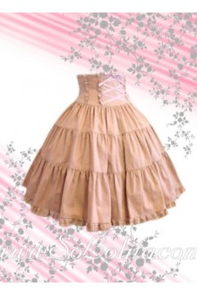 Pink Corset Bow Pleated Sweet Lolita Skirt