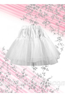 Beautiful Pure White Lace Hem Lolita Skirt