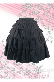 Black Pleated Special Designed Lolita Skirt
