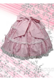 Kawaii Pink Bow Pleated Lolita Skirt