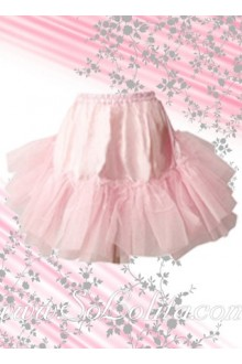 Sweet Pink Puff Lace Hem Lolita Skirt