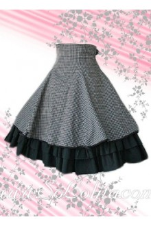 Black Plaid Multi-layer Lolita Skirt
