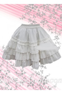 Sweet White Multi-layer Short Lolita Skirt