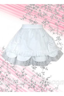 Kawaii White Petal Hem Multi-layer Lolita Skirt