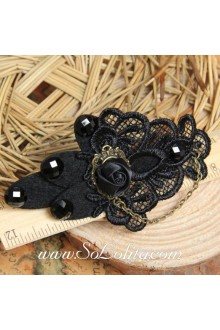 Lolita Gothic Vampire Rose and Lace Detailing Barrette
