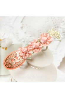 Lolita Lovely A Row of Three Pink FlowerBarrette