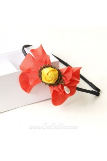 Lolita Vintage Yellow Rose Red Petal Headband