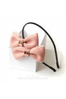 Lolita with Two Pink Bow Bud Head Headband