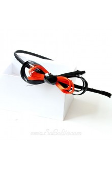 Lolita Black and Orange Ribbon Mixed Bow Simple Headband