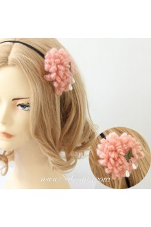 Lolita Woolen Flower With Butterfly Headband