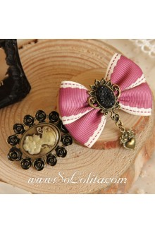 Lolita Beauty Head Sweetheart Bow Vintage Barrette