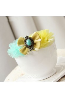 Lolita Yellow and Blue Little Fresh Bow Barrette