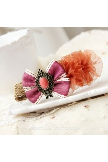 Lolita Purple Bow Princess Style Fashion Barrette