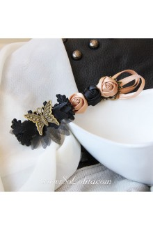Lolita Three Little Flower and Butterfly Detailing Barrette
