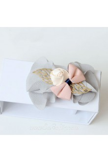 Lolita Sweet Chiffon Bow Rose Cute Barrette